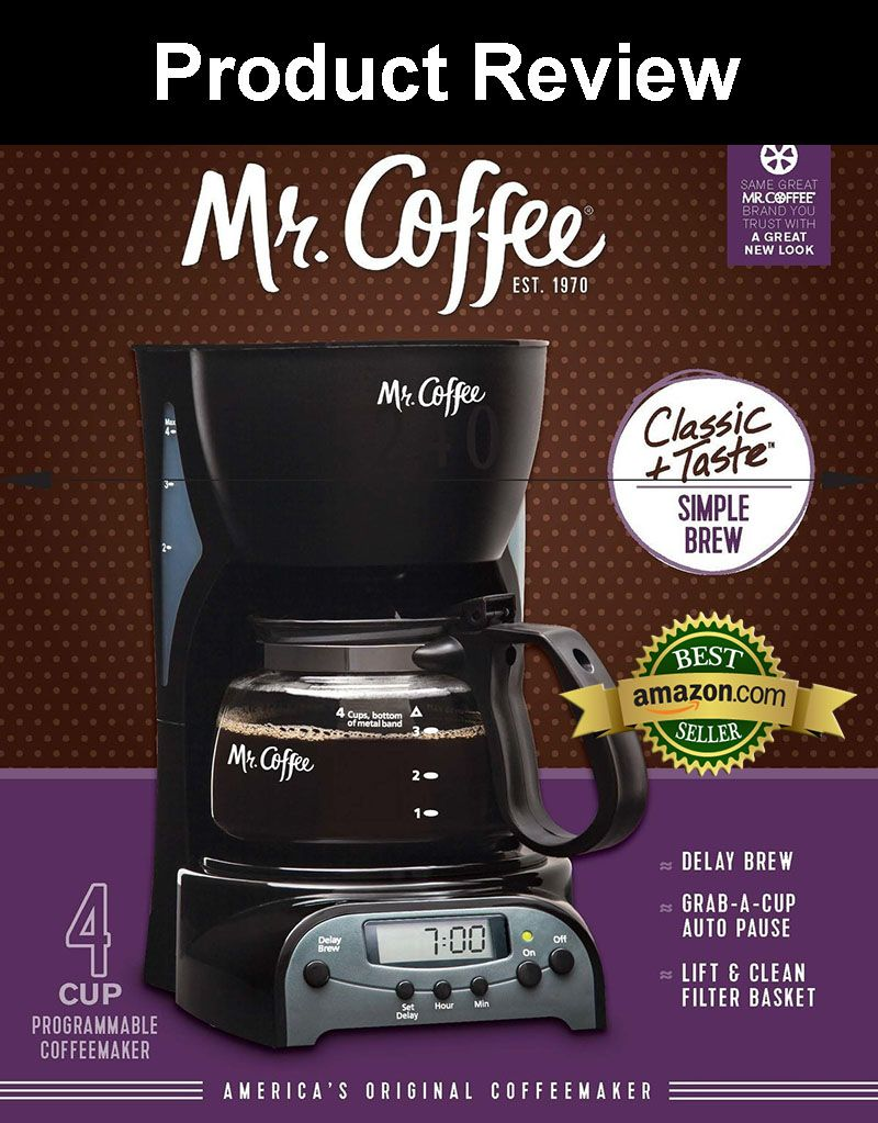 Mr. Coffee DRX5 4Cup Programmable Coffeemaker Product