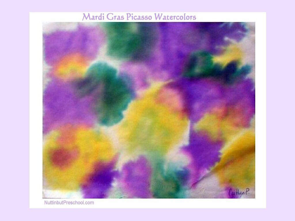 Mardi Gras Watercolor