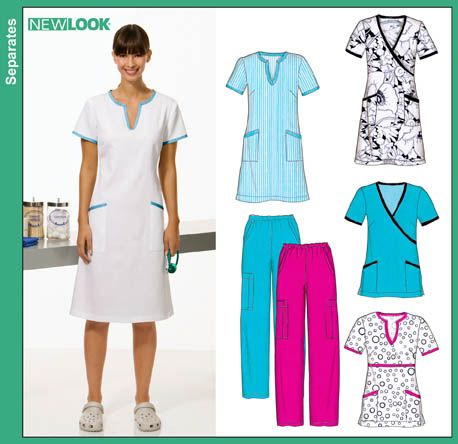 New Look 6817 from New Look patterns is a Misses Scrubs: Dresses ...