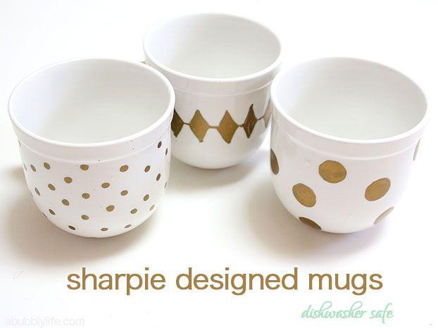 Dishwasher Safe Sharpie Coffee Mugs A Bubbly Life Sharpie Coffee Mugs Painted Coffee Mugs Sharpie Mug Designs