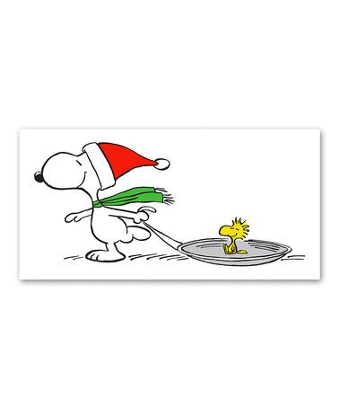 Look what I found on #zulily! Snoopy & Woodstock Sled Gallery-Wrapped Canvas #zulilyfinds