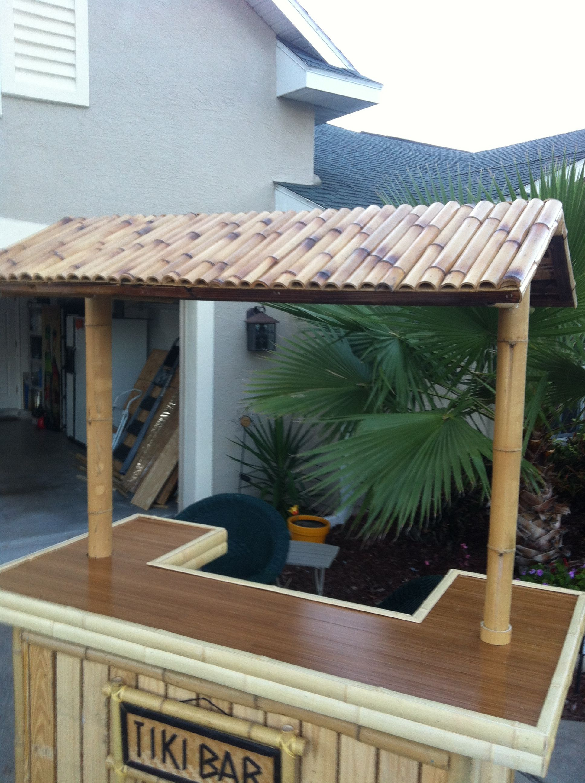 Charmant Used Bamboo Flooring For The Bar Top