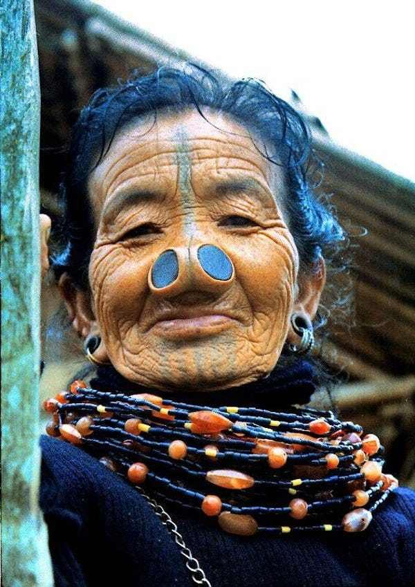 Nose Plugs is listed (or ranked) 3 on the list 16 Crazy Tribal Body Modification…