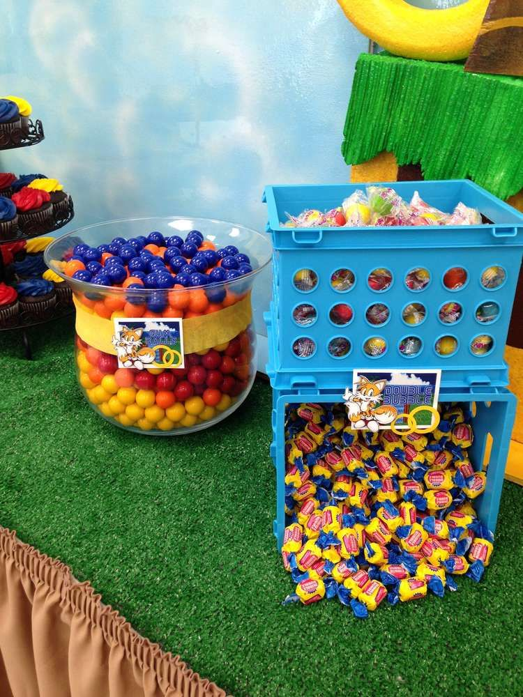 Sonic The Hedgehog Birthday Party Ideas Photo 1 Of 24 Catch My