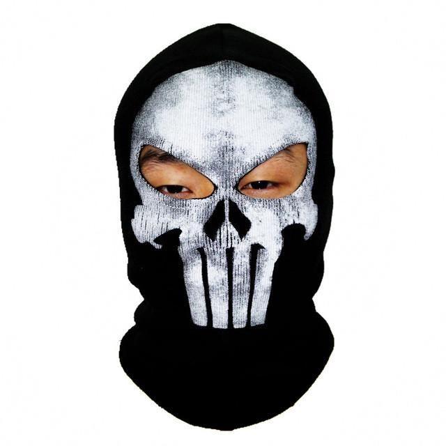 Winter Skull Mask Balaclava Beanies Hats Men Ghost Skul Full Face ...
