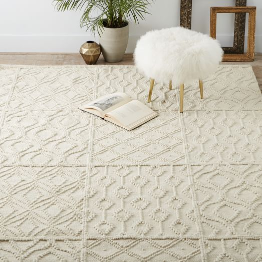 Variegated Knot Wool Rug Bedroom RugsLiving