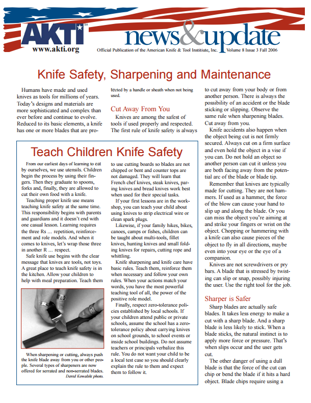 Library Resource: AKTI Knife Safety http://goo.gl/dZxBbP