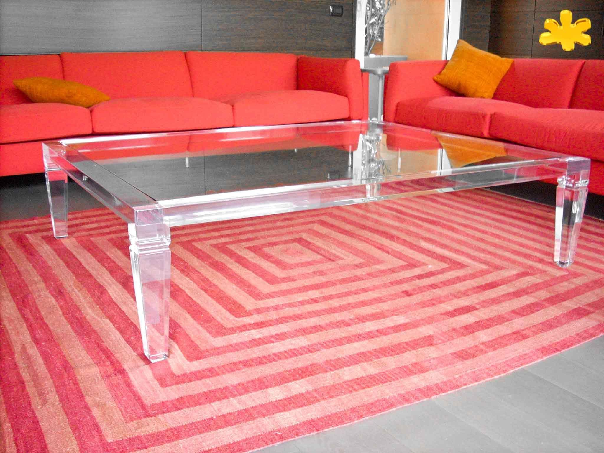 Tavolini Soggiorno Plexiglass.Lucite Acrylic Coffe Table Tavolini Da Salotto In