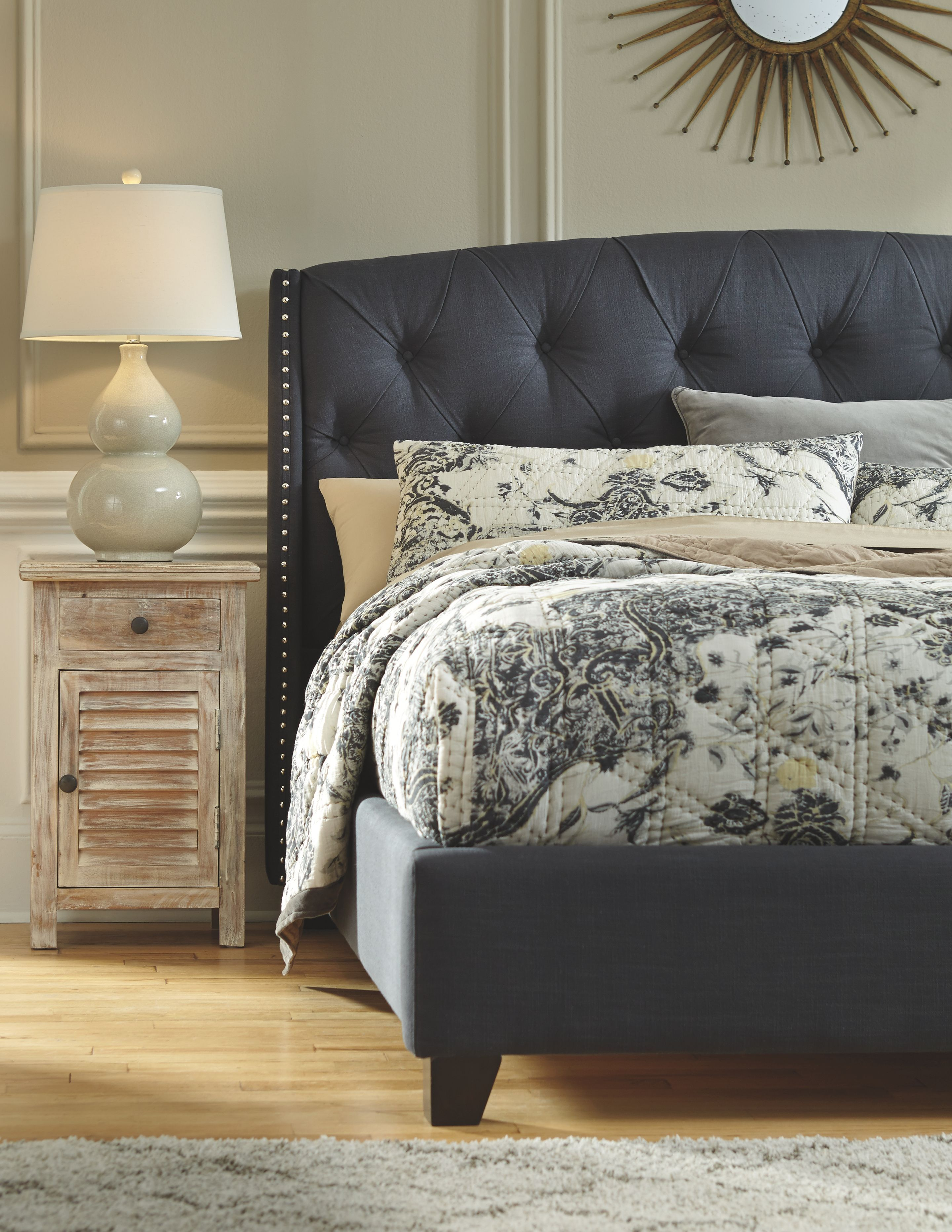 Kasidon Queen Tufted Bed Multi Queenbedframe Home Decor