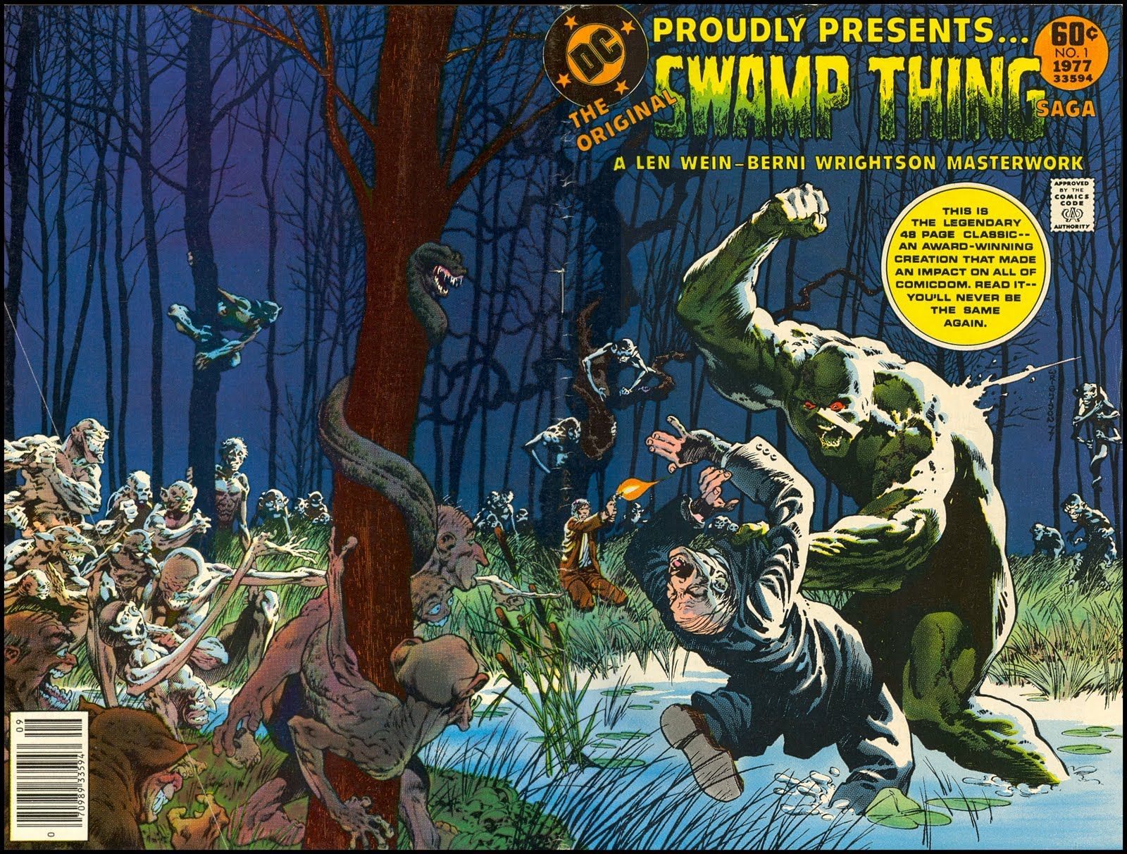 Image result for swamp thing wrightson wein wraparound cover