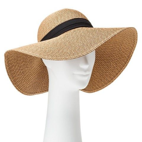1eed0a9b197 Women s Tan Floppy Hat with Black Band.  Target