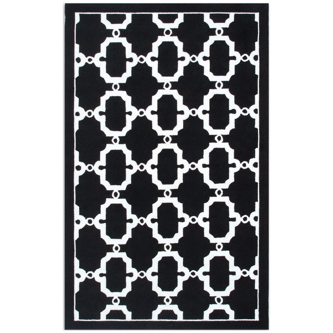 Resort Hyperion Black White Rug