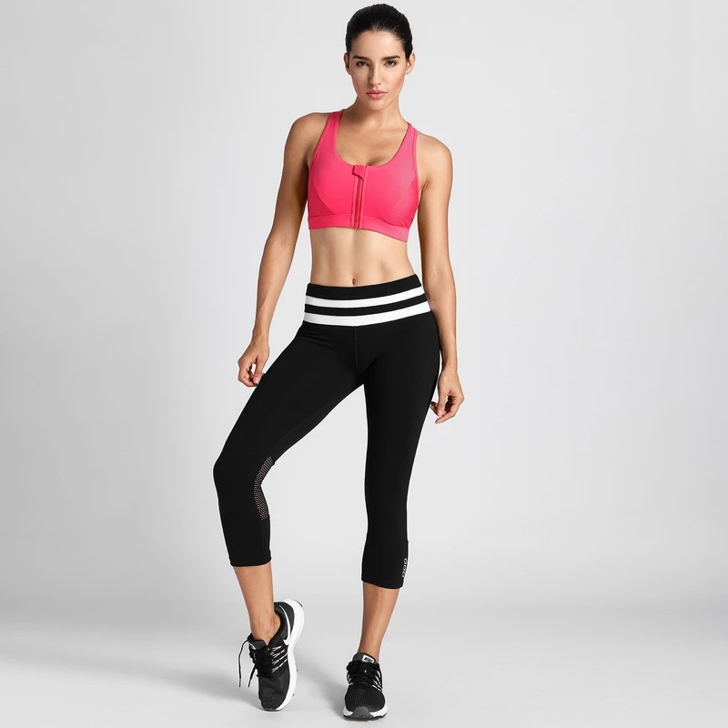 Women's High Impact Sport Bra With Back Pocket Front