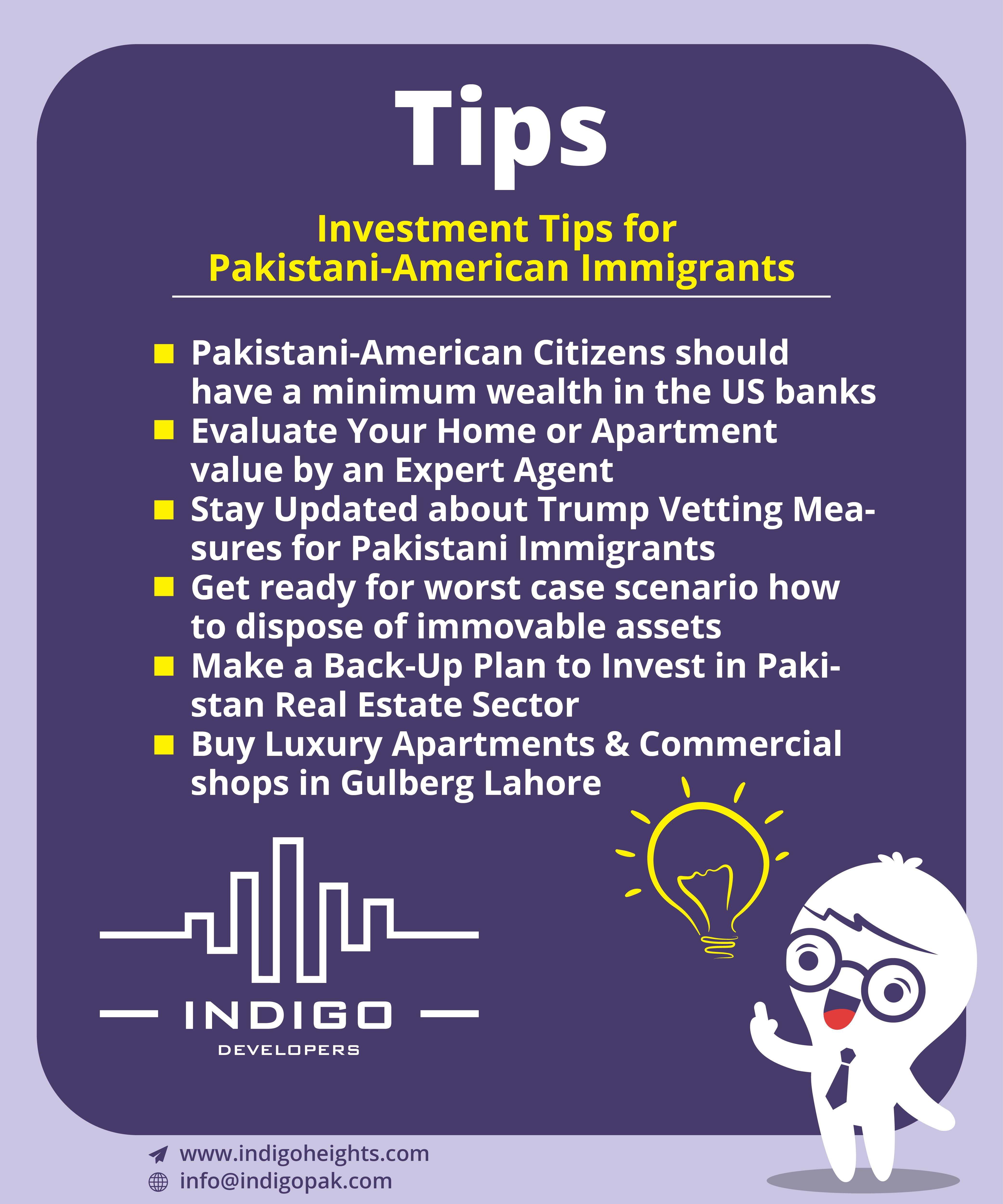 Investment Tips For Pakistani American Immigrants. #IndigoTips #AmericanPakistani #Investmenttips Click here website:www.indigoheights.com