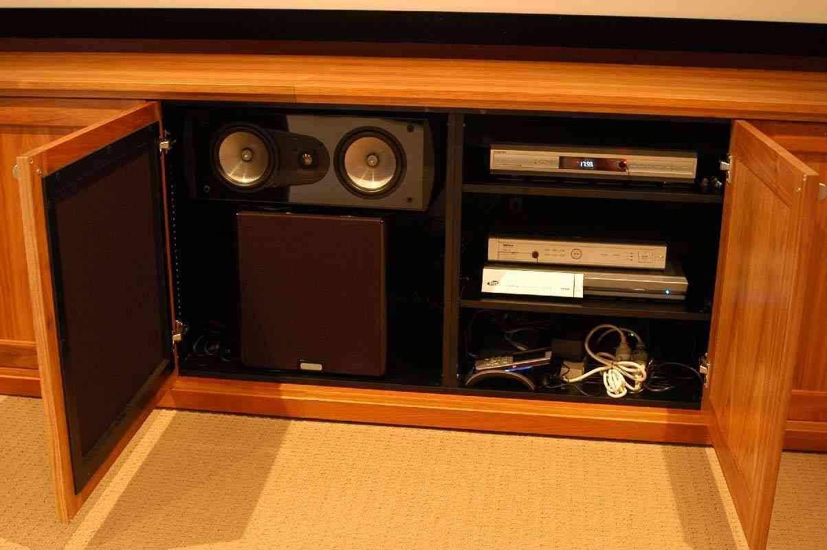 home theater equipment cabinet
