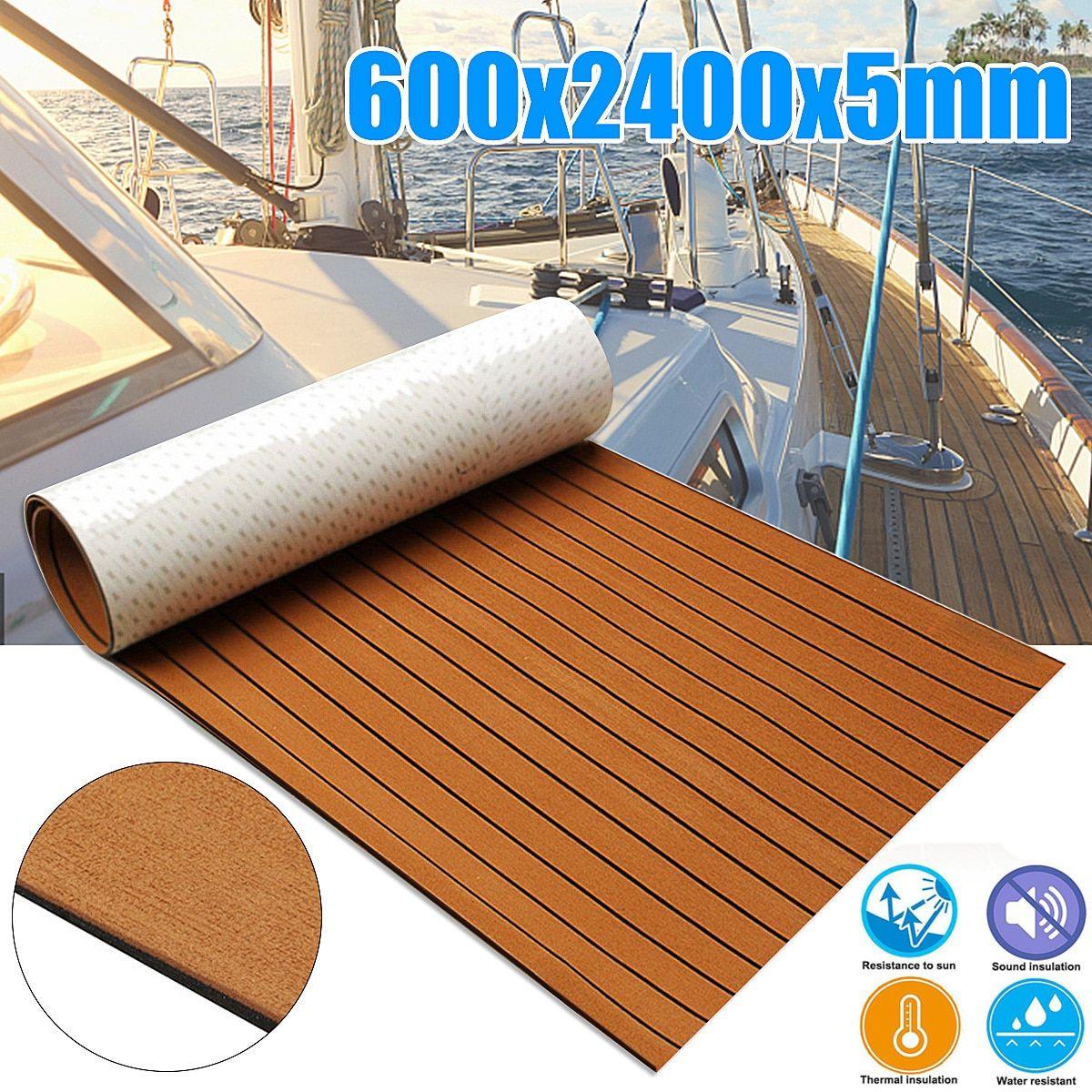 Self Adhesive 600x2400x5mm Foam Teak Decking Eva Foam Marine