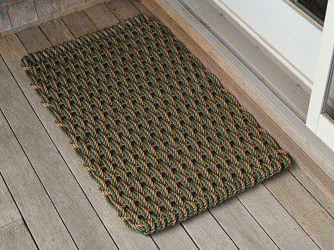 Bronze U0026 Green Nautical Door Mats By The Rope ...