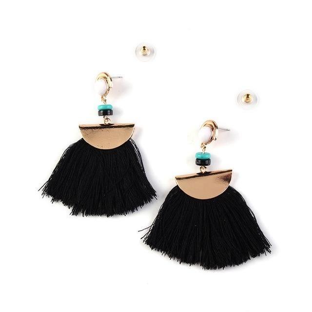 Boucle Doreille Pompon Bijoux Earrings Jewelry Trends