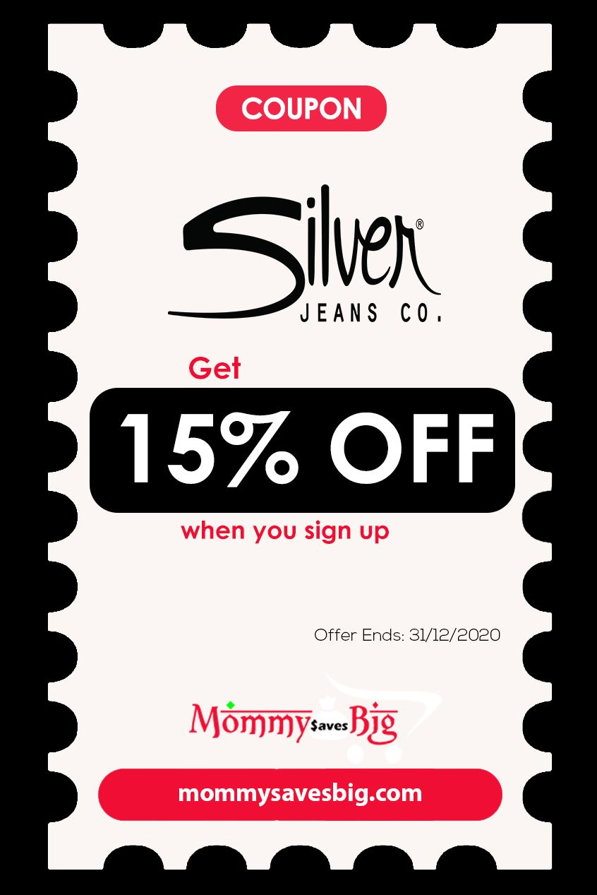 Silver Jeans Get 15 Off When You Sign Up In 2020 Money Saving Mom Mom Coupons Printable Coupons