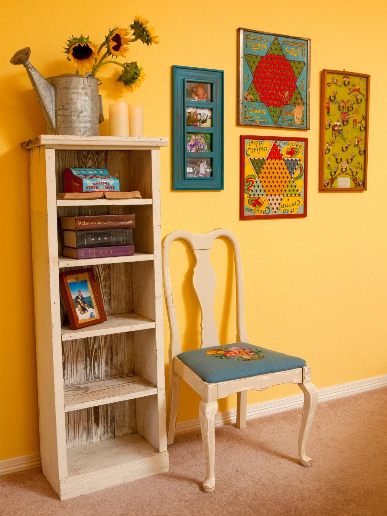 Decorate With Upcycled Wall Art, Shelves and Storage | Game boards ...