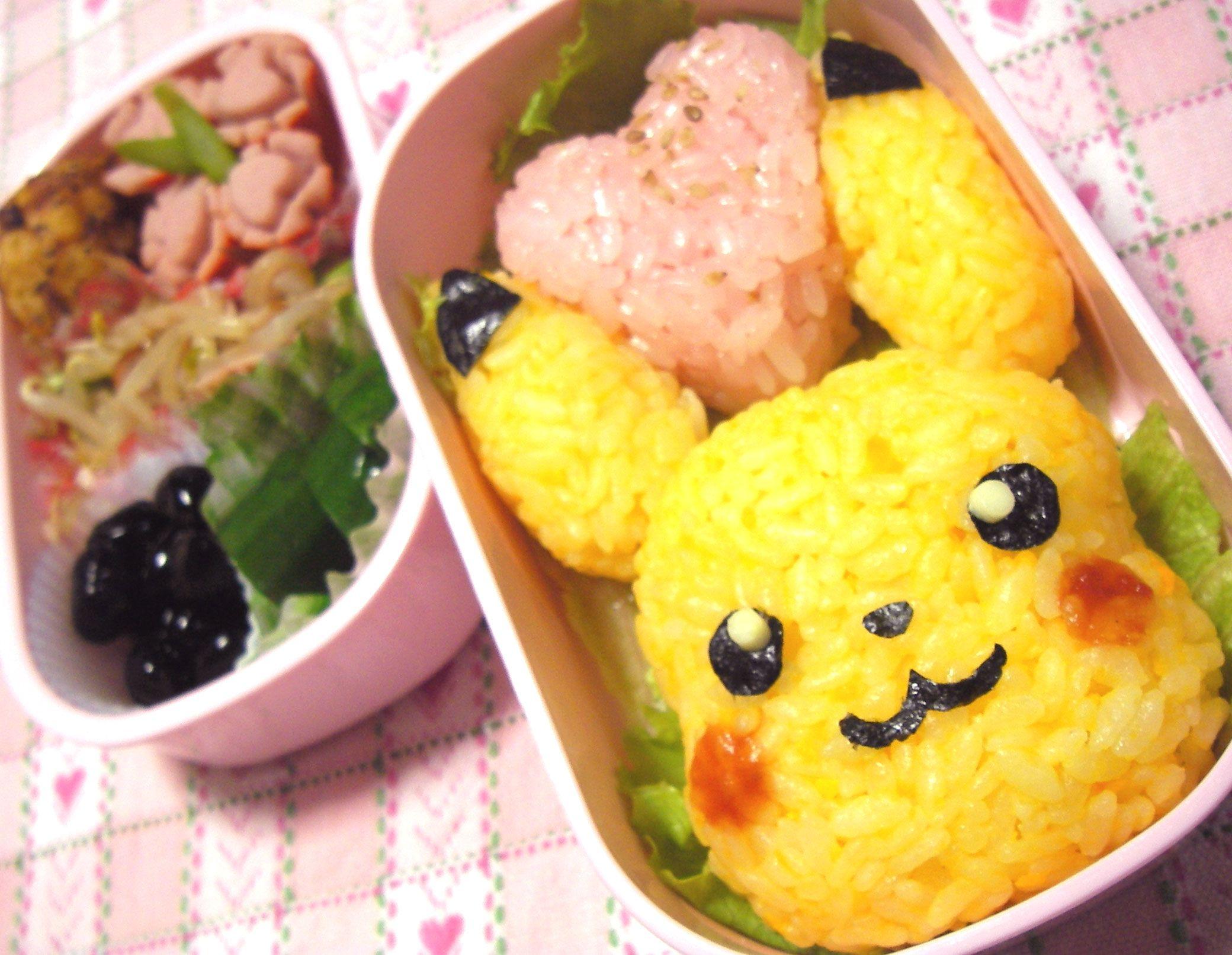 pikachu rice ball bento box recipe bento love pinterest bento bento box and rice ball. Black Bedroom Furniture Sets. Home Design Ideas