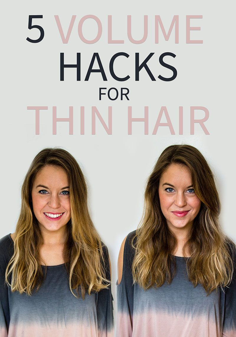11 Volume Hacks for Thin Hair via @styletab  Thin hair haircuts