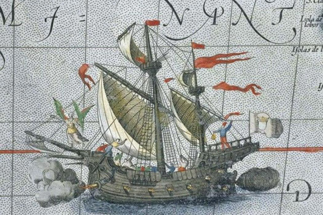 Illustration of the Flor de la Mar
