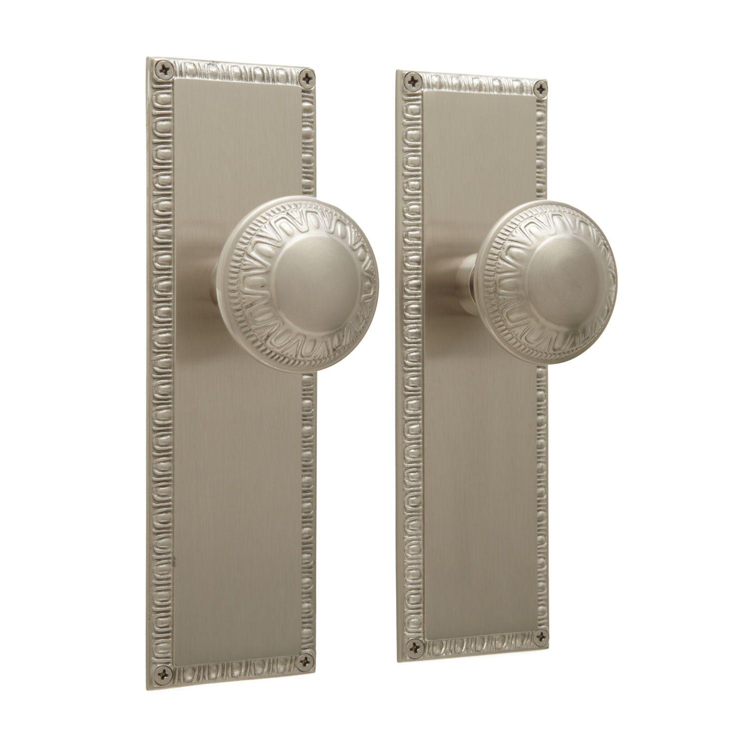 Egg U0026 Dart Door Knob And Plate Set   Privacy, Passage And Dummy   Interior