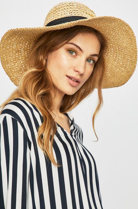 Kapelusz Damski Z Szerokim Rondem Bezowy Medicine Everyday Therapy Fashion Fedora Hats