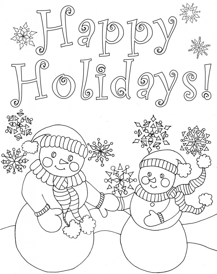 Happy Holidays Coloring Pages Httpcolorings.cohappyholidayscoloringpages  Colorings