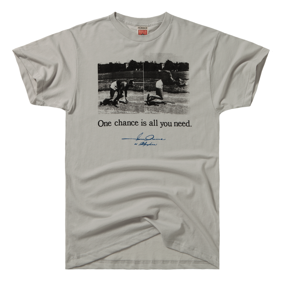 homage jesse owens one chance track field t shirt  homage jesse owens one chance track field t shirt 28 00
