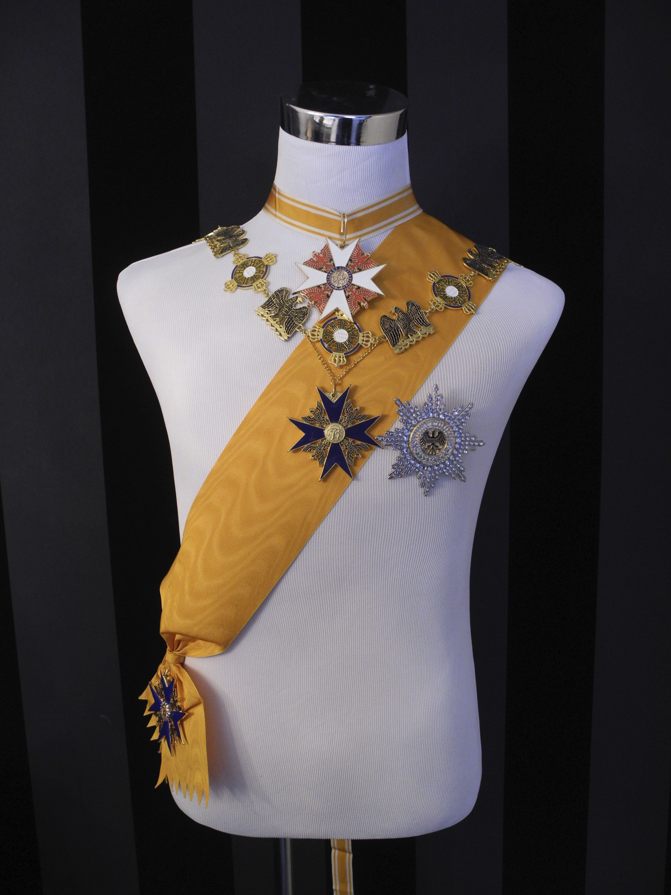 Prussia High Order Of The Black Eagle Gold Yellow Riband Collar