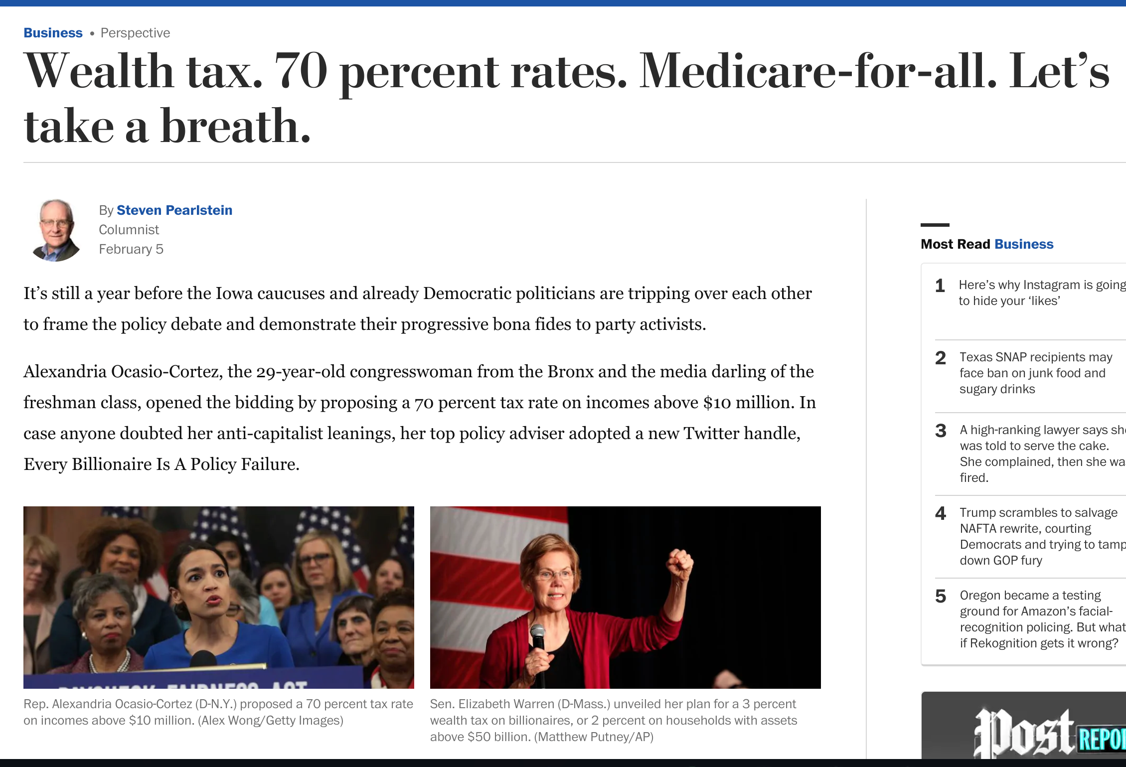 Wealth Tax 70 Percent Rates Medicare For All Let S Take A