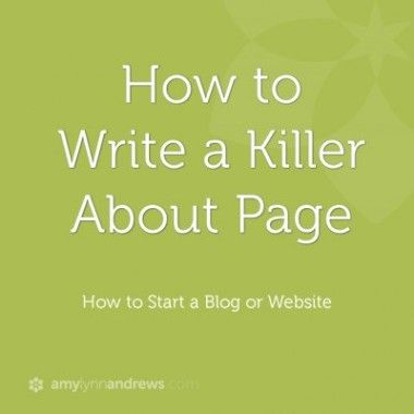 How To Write An About Page. Blog Website DesignHow ...