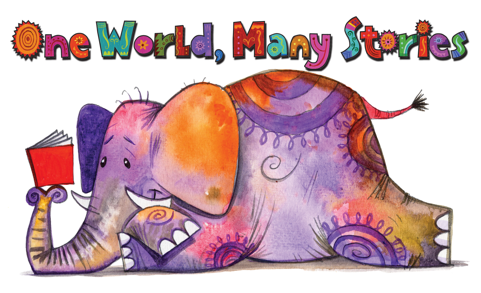 Worksheet Elephant Reading this would be adorable in a reading nook clip art kids one world