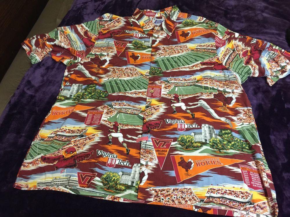 1a4aee23c Reyn Spooner Sports Virginia Tech Hokies Hawaiian Style Shirt Size XXL  Vintage #ReynSpooner #Hawaiian