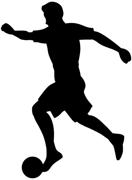 Footballer Silhouette Png Transparent Clip Art Image Silhouette Png Art Images Clip Art