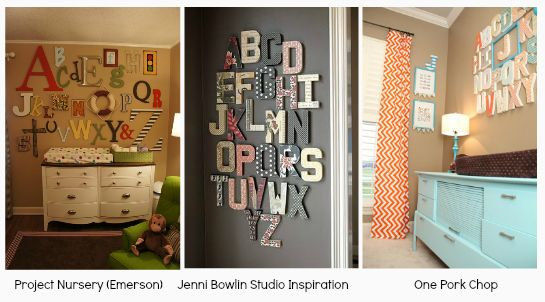 Alphabet Wall Nursery Decor Jpg 545 302 Pixels