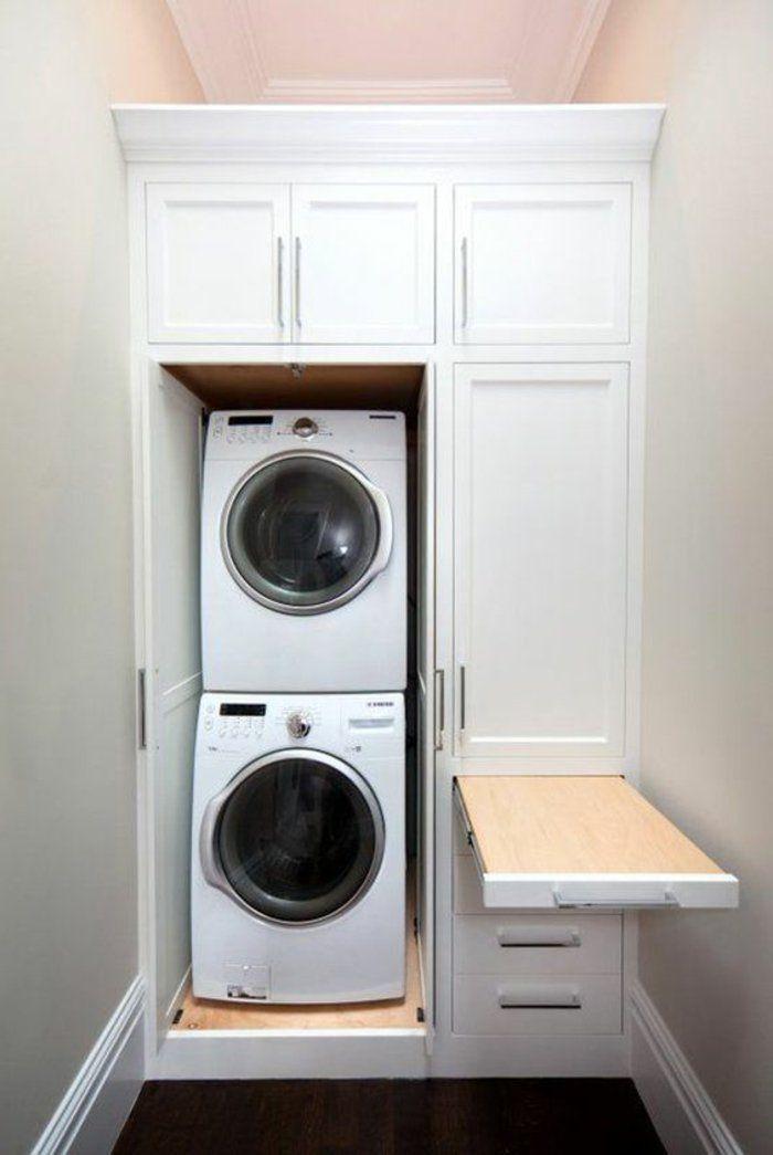 1001 id es comment am nager sa buanderie fonctionnelle amenagement buanderie repasser et linge. Black Bedroom Furniture Sets. Home Design Ideas