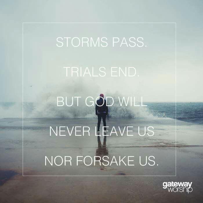 Storms pass...