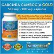 #1 Garcinia Cambogia Extract - Garcinia Cambogia GOLD - 500 mg, 180 Veggie Capsules (Featuring Clinically-Proven, Multi-Patented 60% HCA Extract for Weight-Loss) 1,500 mg per Serving:Amazon:Health & Personal Care