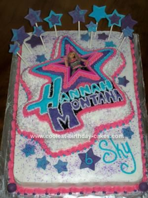 Magnificent Coolest Homemade Hannah Montana Birthday Cake With Images Cool Birthday Cards Printable Inklcafe Filternl