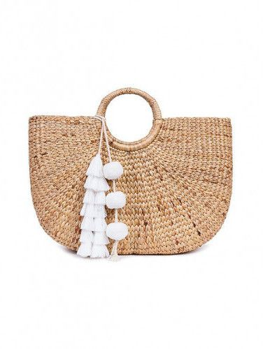 224dd1ab9082 Jade Tribe White tasseled basckt bag | Amalfi Coast Summer Vacation ...