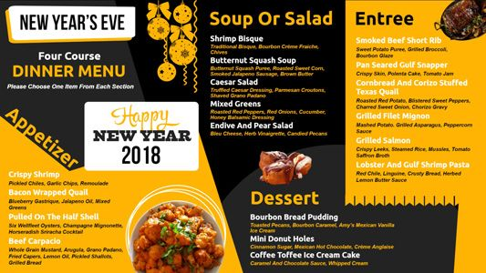 New Years Eve Special Menuboard Design For Digitalsignage On - Digital menu board templates