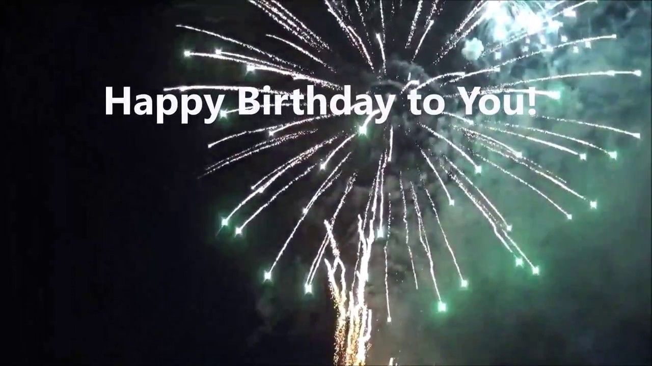 Happy Birthday Greeting Card Video With Fireworks With Images