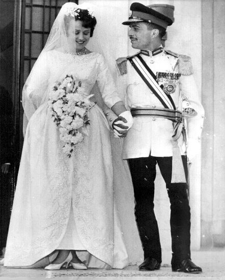 Fantastisk Jordan - 1961 King Hussein and Antoinette Avril Gardiner, H.R.H. KI-95