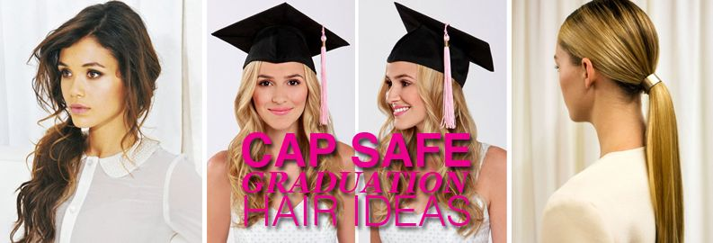Graduation Cap Safe Hairstyles Graduation Dresses Pinterest