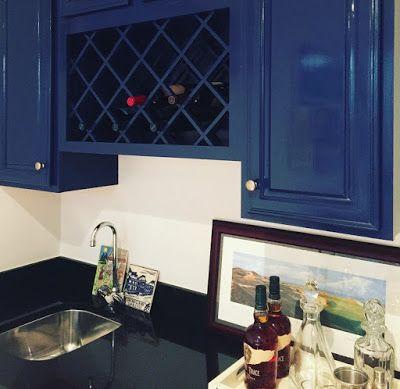 Blue Dining Hutch