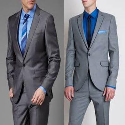 Trajes formales para hombre color gris