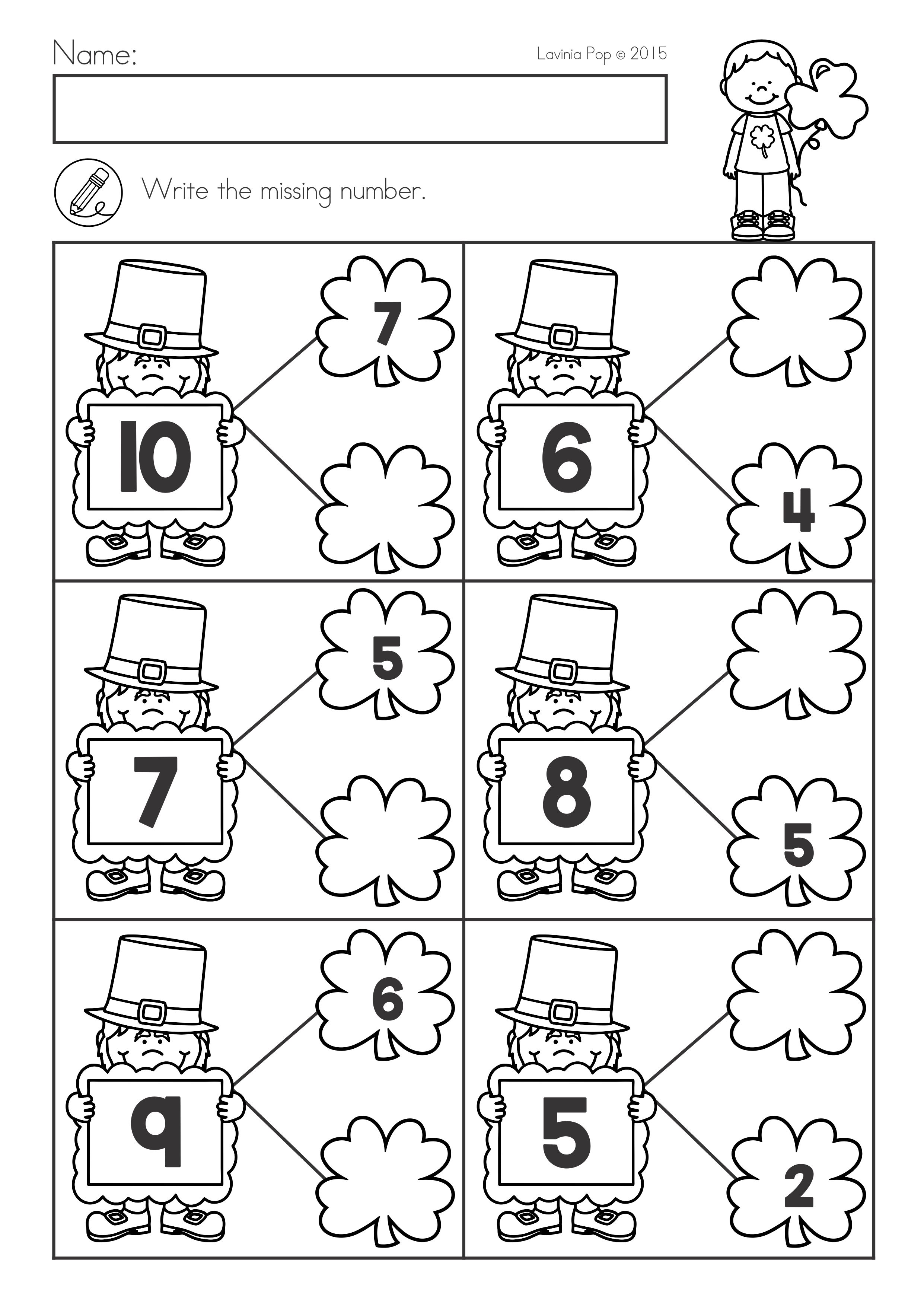 St Patrick S Day Math Literacy Worksheets Activities No Prep Literacy Worksheets Math Worksheets Kids Math Worksheets [ 3508 x 2482 Pixel ]